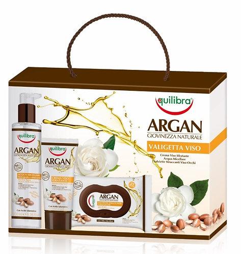 Equilibra Arganovo olje darilni paket -  nega obraza večji