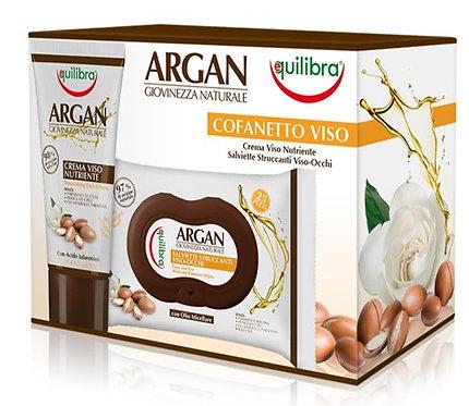 Equilibra Arganovo olje darilni paket - nega obraza manjši