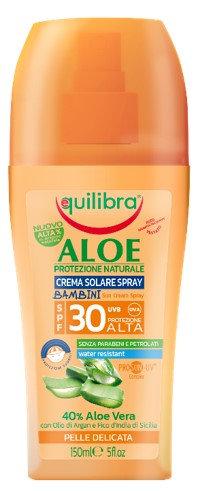 Equilibra Aloe PROSUN-UVE KIDS krema za sončenje v sprayu SPF30 150ml