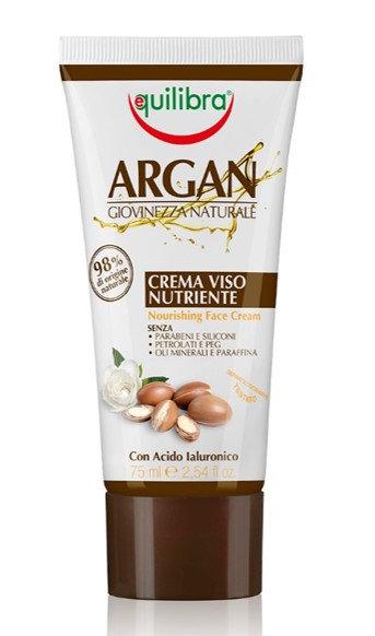 Equilibra Arganovo olje hranilna krema za obraz 75ml