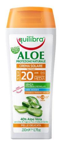 Equilibra Aloe PROSUN-UV krema za sončenje SPF20 150ml