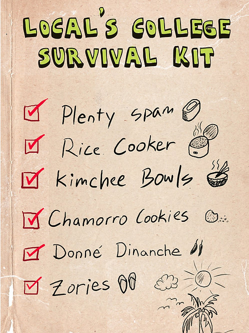 'Grad Survival Kit' Greeting Card