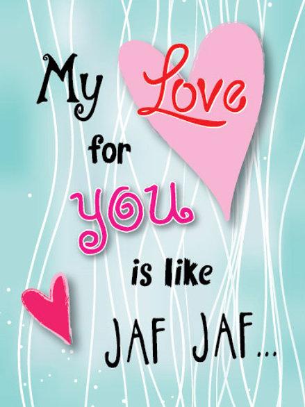 'Jaf Jaf' Greeting Card