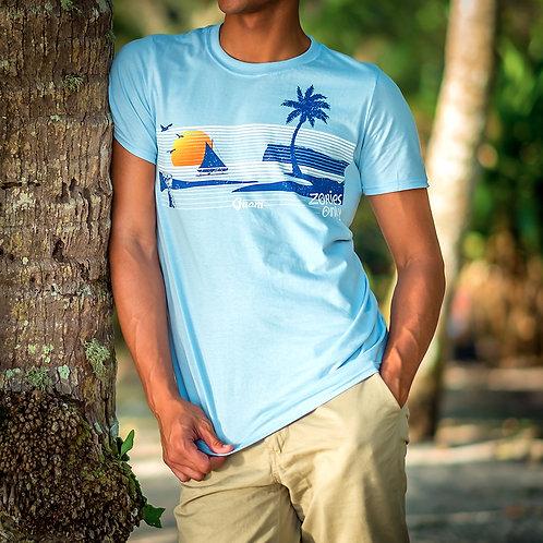 Retro Guam Island Tee (Blue) Set
