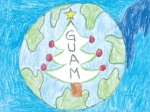 'Guam Earth' - Buy Local Student Greeting Card