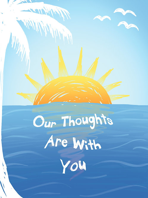 'Our Thoughts' Greeting Card