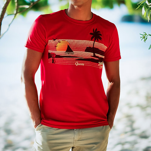 Retro Guam Island Tee (Red)