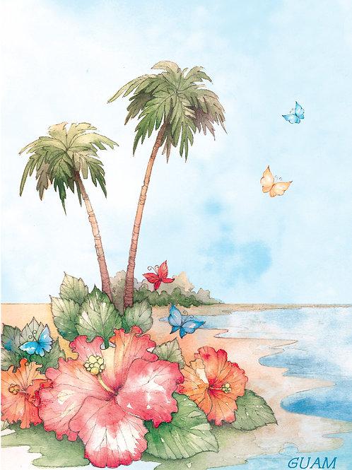 'Tropical' Greeting Card