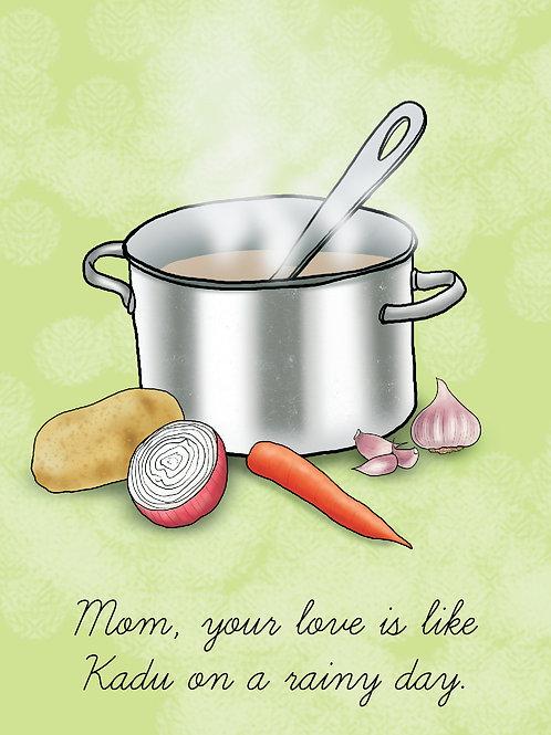 'Mom Kadu' Greeting Card