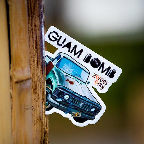 Guam Bomb Sticker