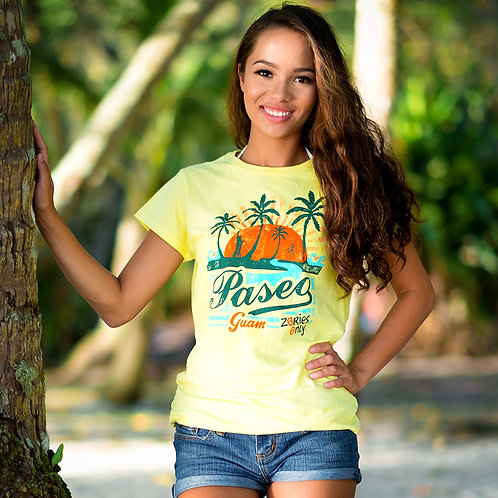 Paseo Vintage Tee - Women's (Light Yellow)