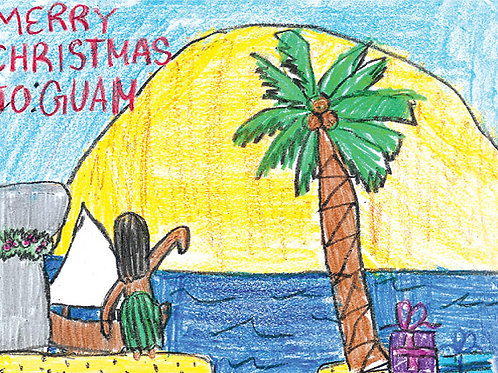 'Guam Sunrise' - Buy Local Student Greeting Card