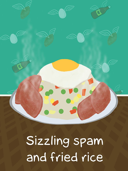 'Dad Spam and Rice' Greeting Card