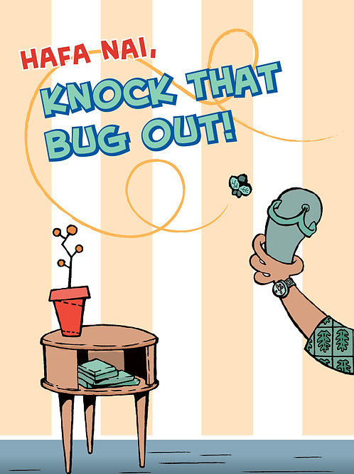 'Knock That Bug' Greeting Card