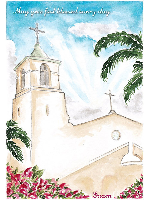 'Church' Greeting Card
