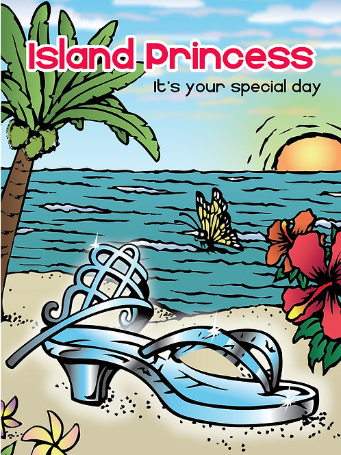 'Island Princess' Greeting Card