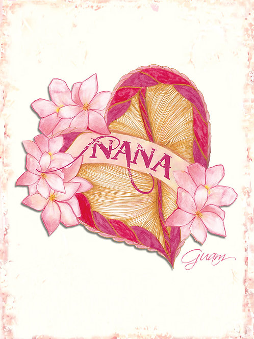 'Nana Heart' Greeting Card