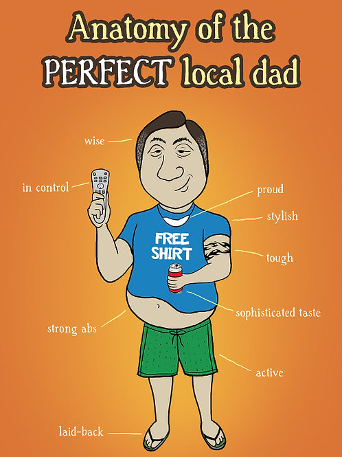 'Dad Anatomy' Greeting Card