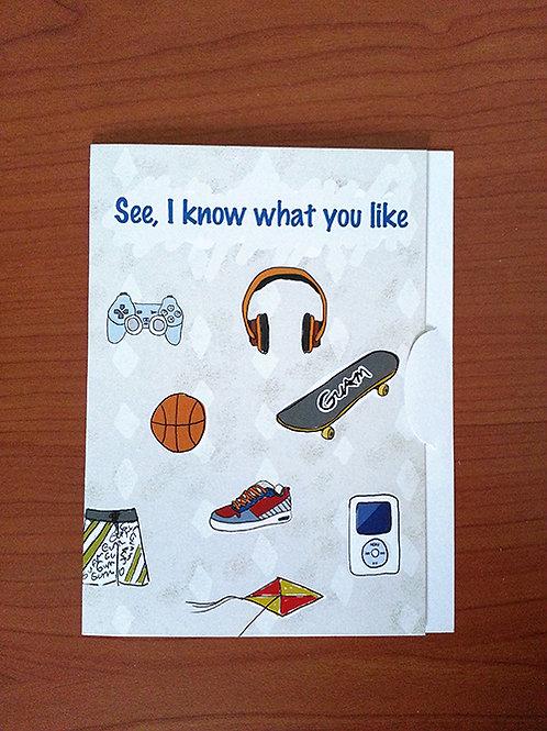Chenchule' Boy Gift Card Holder