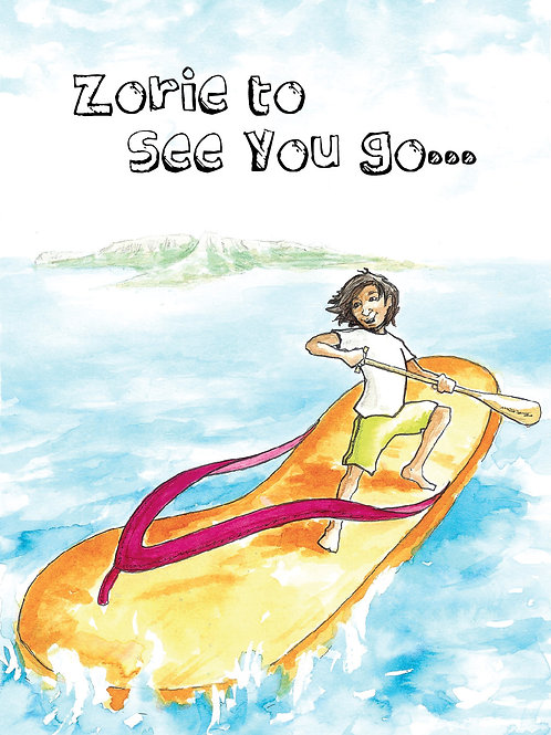 'Zorie Travels' Greeting Card