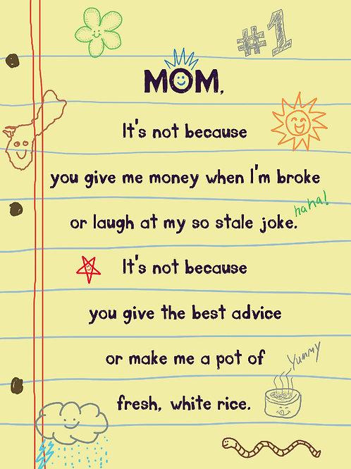 'Mom Poem' Greeting Card