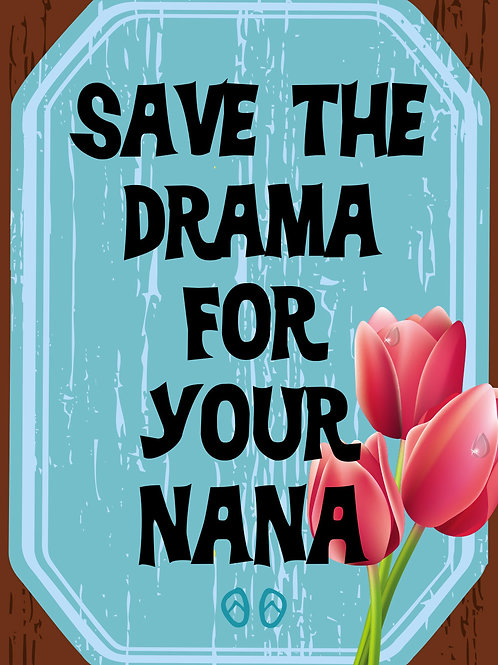 'Mom-Save the Drama' Greeting Card