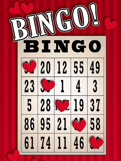 'Bingo Hearts' Greeting Card