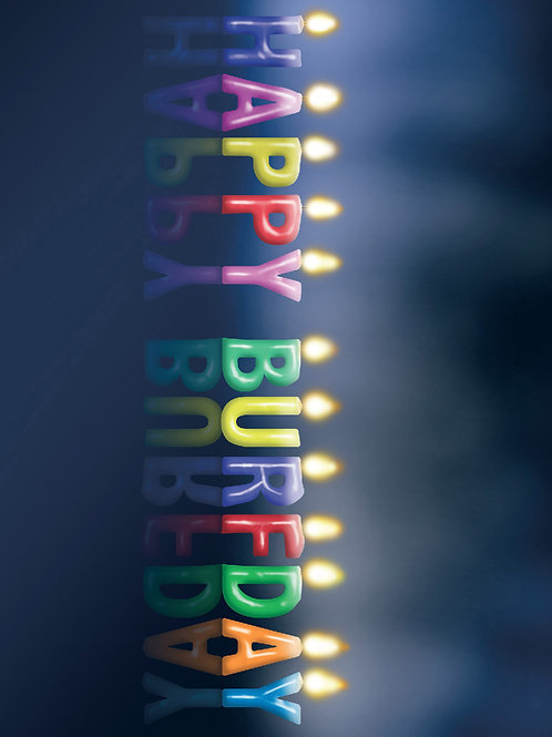 'Happy Burfday' Greeting Card