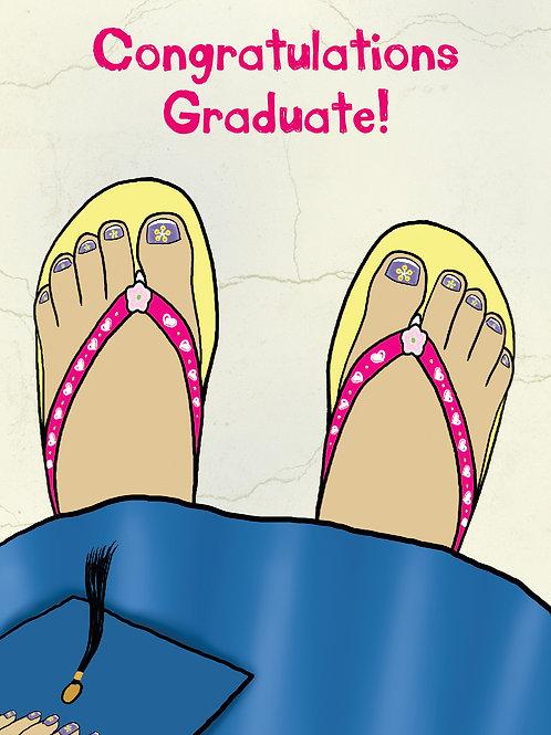 'Grad Girl Zories' Greeting Card
