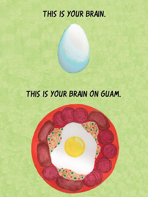 'Egg Brain' Greeting Card