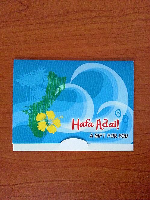 Hafa Adai Gift Card Holder