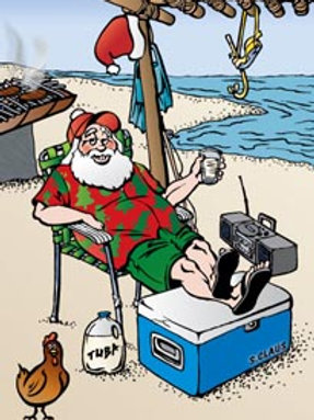 'Island Santa' Greeting Card