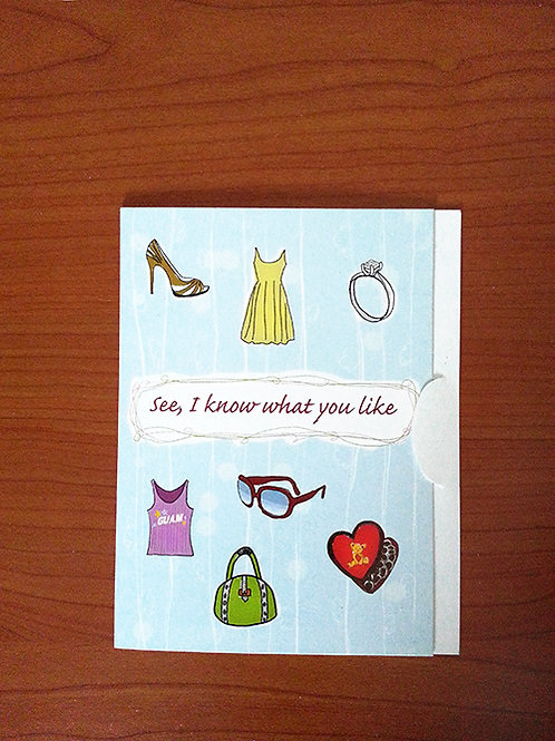 Chenchule' Girl Gift Card Holder