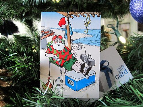 'Island Santa' Gift Card Holder