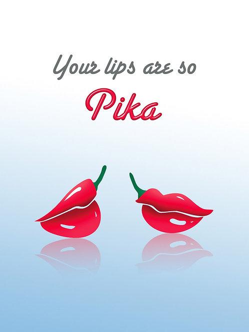 'Pika Lips' Greeting Card