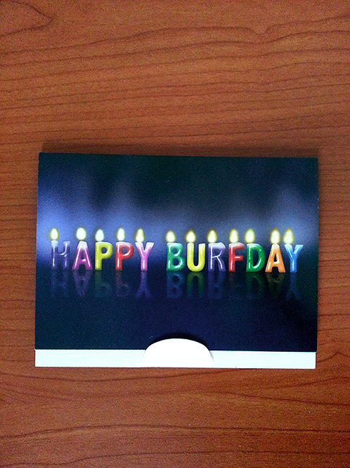 Happy Burfday Gift Card Holder