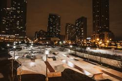 Skate Plaza at Night