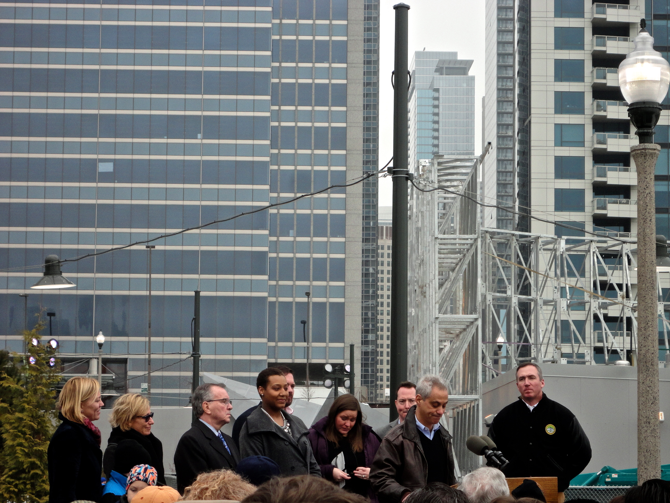 Mayor Emanuel at Opening Day