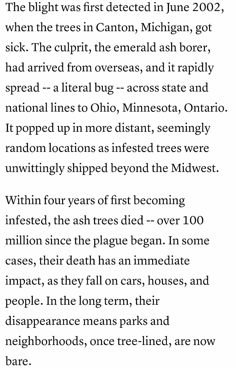 Snippet from The Atlantic