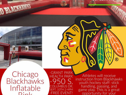Chicago Blackhawks Inflatable Rink Takes  Grant Park by Storm