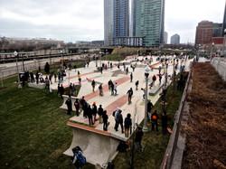 Skaters flood into the Skate Plaza