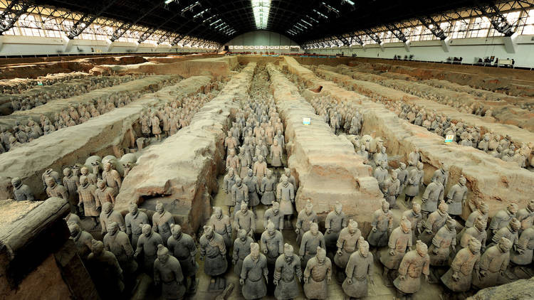 Photograph: Courtesy Shaanxi Cultural Heritage Promotion Center A view of the Terracotta Warrior pit