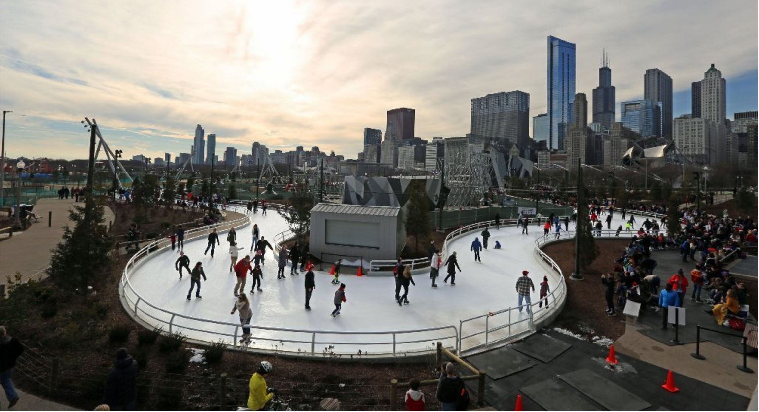 Maggie Daley Park ice skating