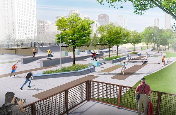Skate Plaza Rendering