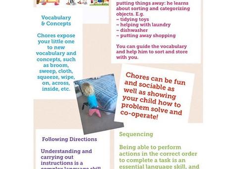 How Chores Teach Language Skills