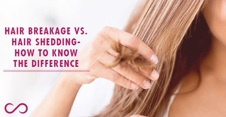 hair breakage vs. shedding side by side