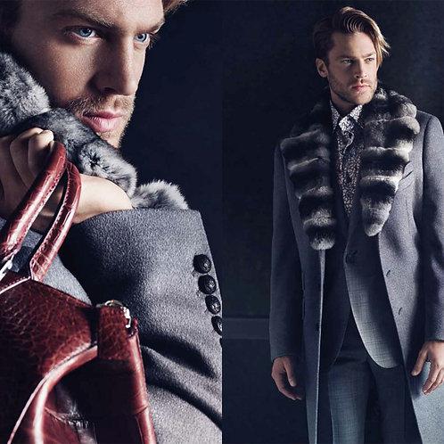 Cashmere Coats Fur Collar Men