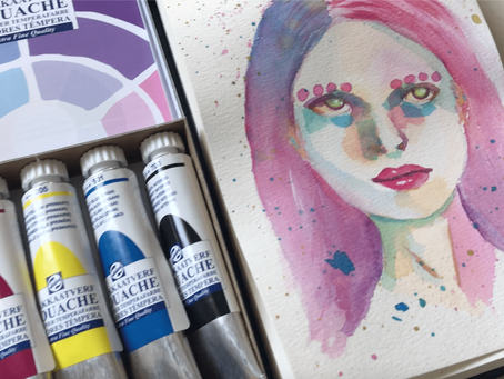 Royal Talens Gouache review + new drawing!