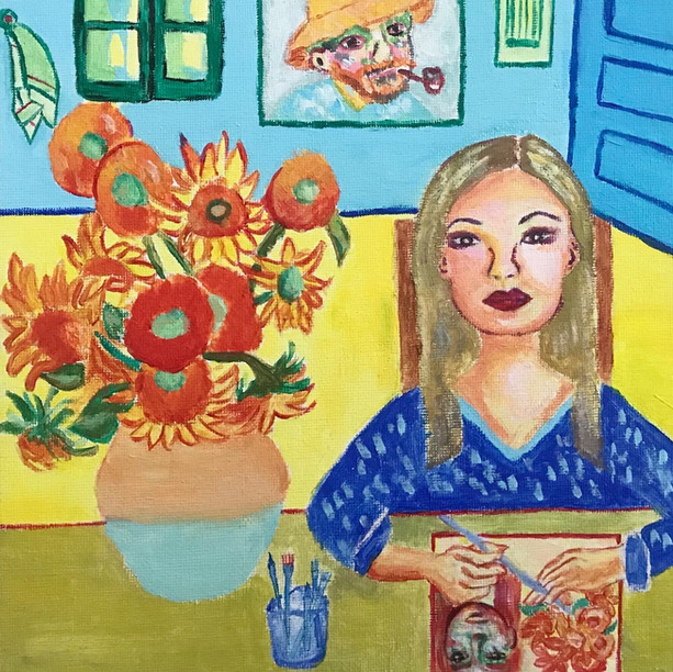 Studying Van Gogh's painting