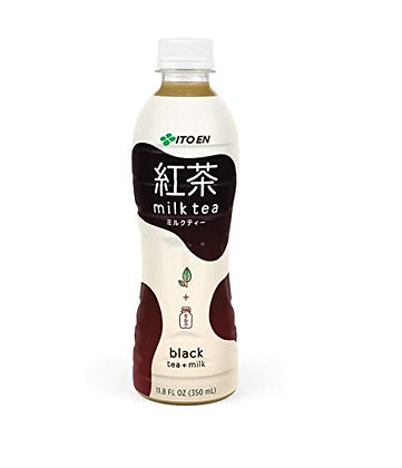 Ito En Black Tea + Milk Milk Tea 11.8 oz Plastic Bottles - Pack of 12